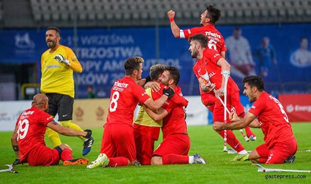 Türkiye Ampute Futbol Milli Takımı, ikinci kez Avrupa Şampiyonu oldu!