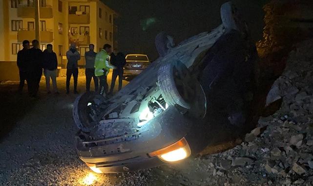 Bursa'da bir araç polisten kaçarken takla attı, kurtulan 3 şahıs kayıplara karıştı!