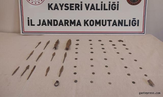 Kayseri'de tarihi eser kaçakçılığı operasyonu!